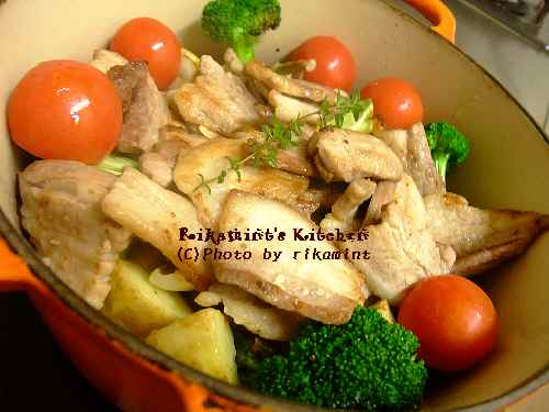 DSCF11・20豚バラと野菜のオーブン蒸し (2)