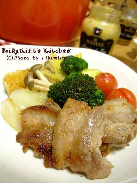 DSCF11・20豚バラと野菜のオーブン蒸しアップ