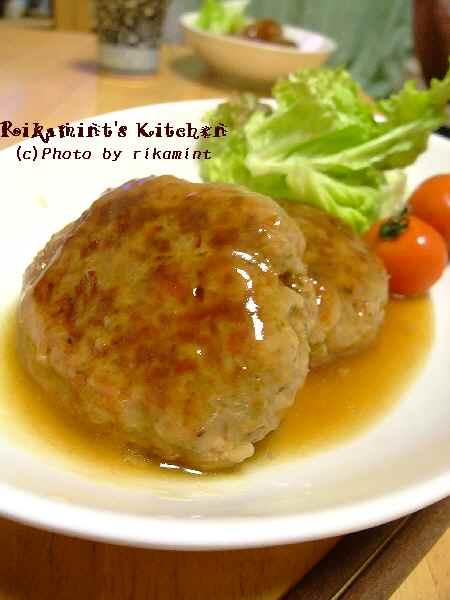 DSCF1・4ハンバーグ生姜餡ソース (4)