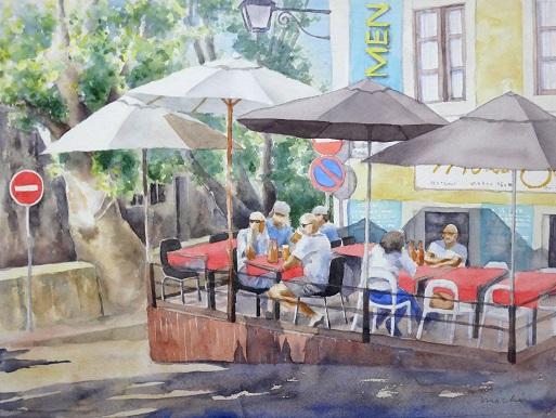 午後のカフェテラス