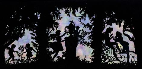 切り絵 妖精の森