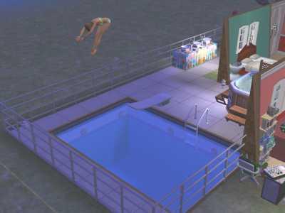 嫁シムはプール好き