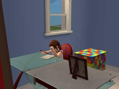 宿題がんばる