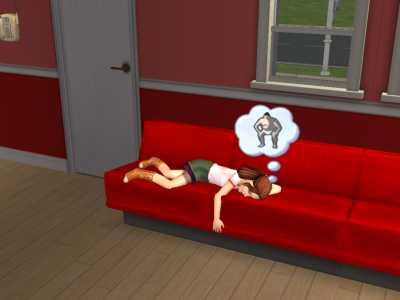 遊び疲れて
