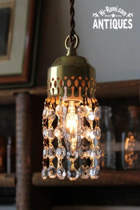 真鍮製カップミニプリズムシャンデリアランプ/アンティーク照明 2011/06/13