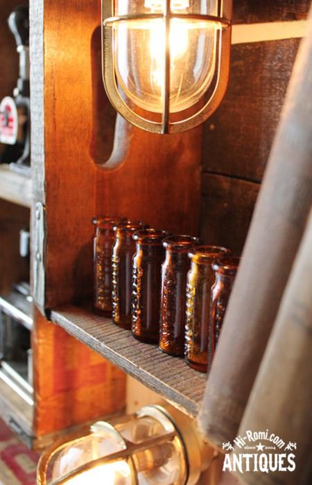 アメリカンアンティーク&コレクティブル ヴィンテージ ブロカント 薬瓶 メディスン ガラスボトル ジャンク 医療系 工業系