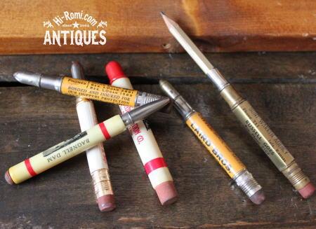 アメリカヴィンテージ 広告入りのバレットペンシル 20110715