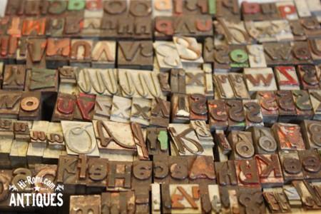 USAアメリカヴィンテージ ブロックスタンプ メタル 打活版印刷 フォント レター