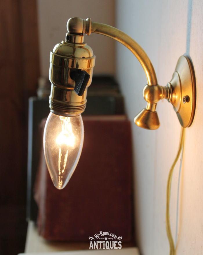 ヴィンテージLEVITON真鍮ウォールランプ/アンティーク壁掛ライト