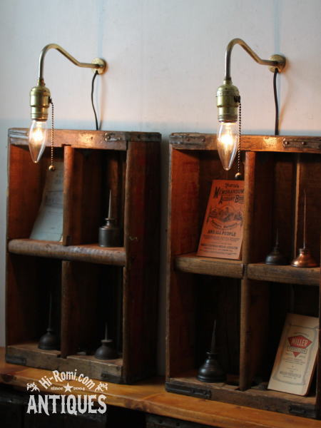 USAヴィンテージGEソケット工業系壁掛ライト/アンティークランプ