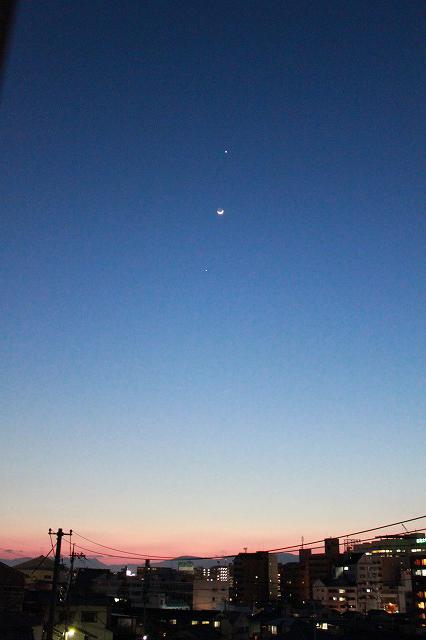 金星と月と木星☆