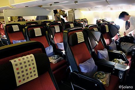 JAL スカイスイート777、プレミアムエコノミークラス客室