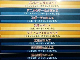 8ジャンル中3ジャンルが☆MAX