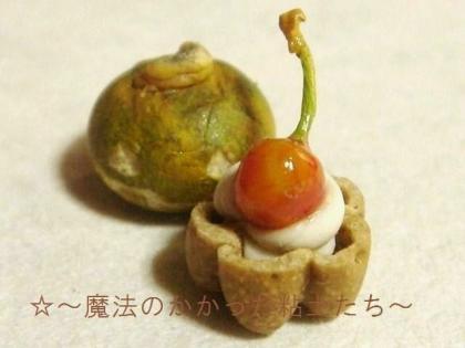 ちっちゃなタルト〔さくらんぼ〕+かぼちゃ