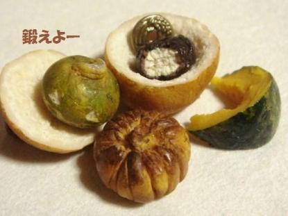 りんごの形のぱん・かぼちゃ達④