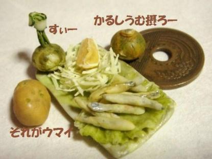 わかさぎの天ぷら〔四角皿〕・かぼちゃ達