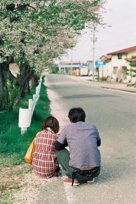 宮川の千本桜と新婚さん