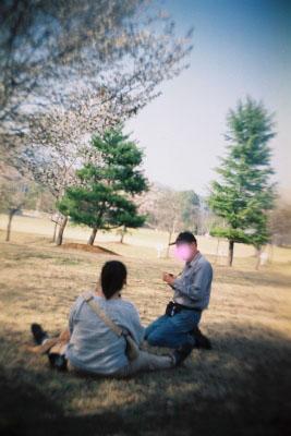 あぶーさん&へんおじさん&リックス君ちらり@大川ふるさと公園
