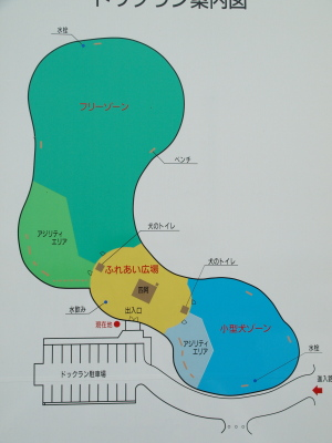 最上川ふるさと総合公園のドッグラン
