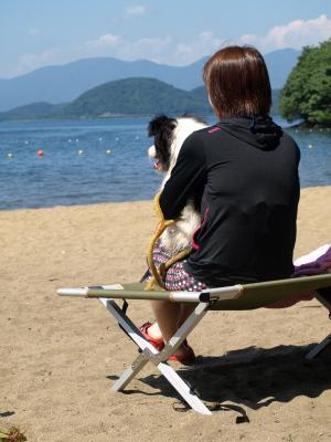 フィービーちゃんとフィービーママさん@中田浜(猪苗代湖)