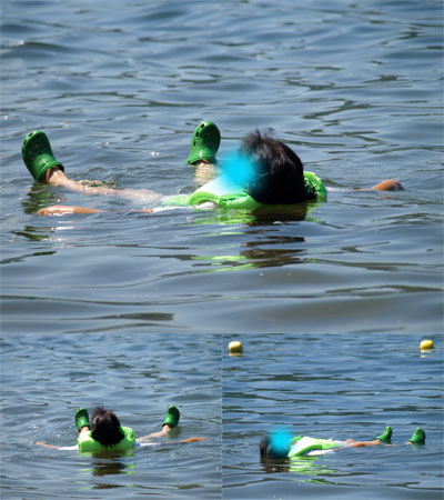 あぶーさんの湖水浴@中田浜(猪苗代湖)