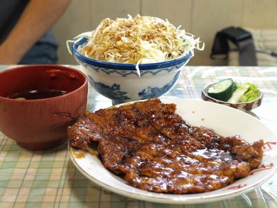 名物カツ丼(大盛り)@白孔雀食堂