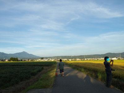 神指城跡から眺める磐梯山