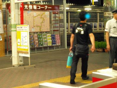 東京へと帰っていくnikko81さん@会津若松駅