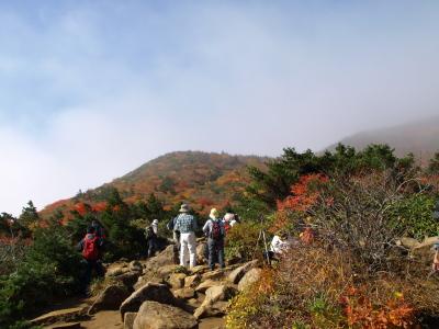 仙女平分岐@安達太良山頂を目指す