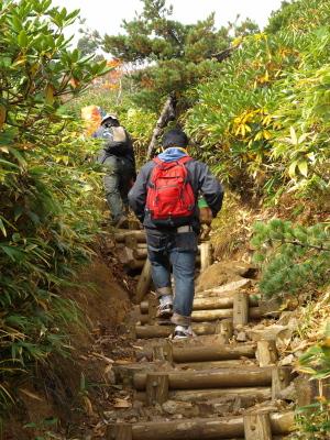 アクア@安達太良山頂を目指す