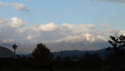 磐梯山(2010/11/03、会津美里町より)