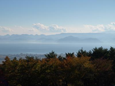 昭和の森(天鏡台)から眺めた猪苗代湖