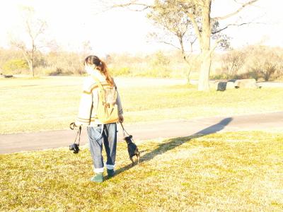 たまこさん&ぴんきぃちゃん@せせらぎ公園