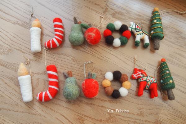 クリスマスツリー用のオーナメント7種