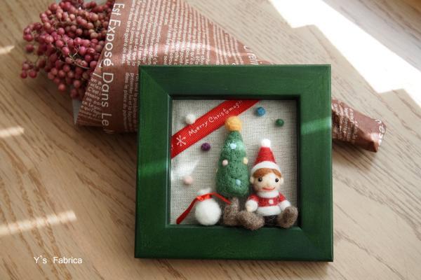 クリスマスのミニフレーム 002