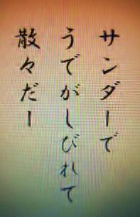 俳句『サンダー』