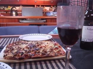 homemade pizza dinner