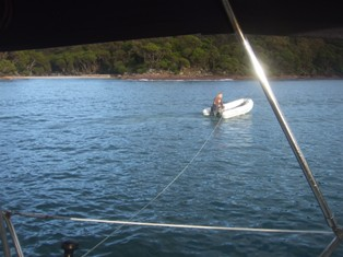 deploying stern anchore