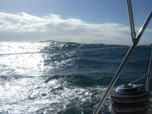 rather choppy sea