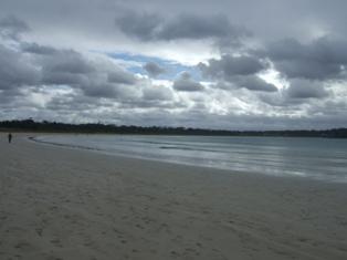 long shallow beach