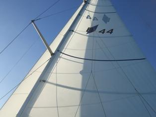 both sails up