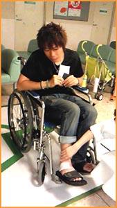 籏さん車椅子