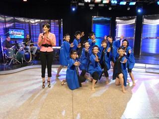 2010ドミニカ(テレビに出演しソーラン節を披露).jpg