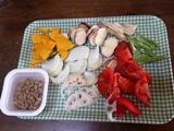 根菜類と納豆