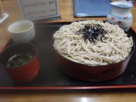 松山で食べたザル蕎麦