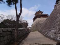 松山城 本丸への上り口