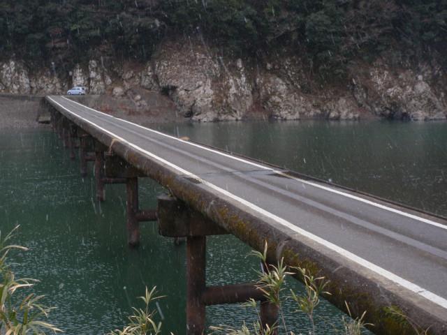 岩間沈下橋 近影