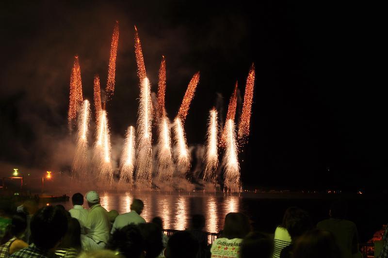 今治市 おんまく花火 2010年