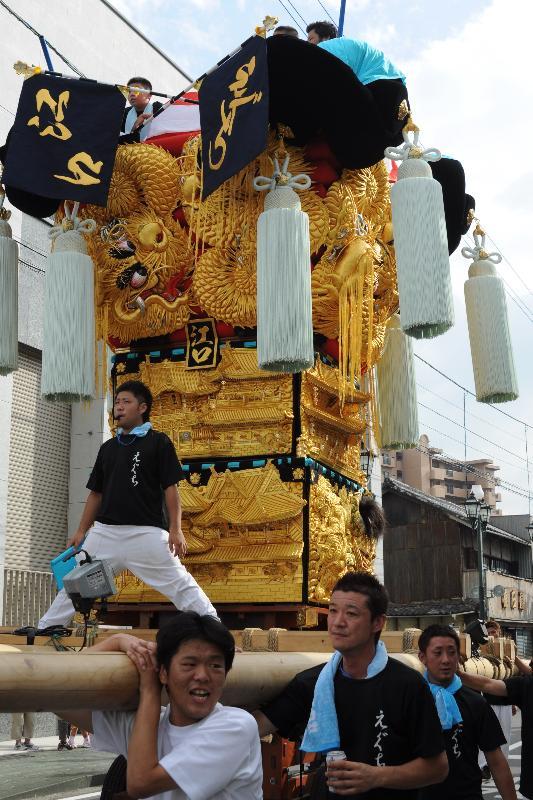 新居浜夏祭り 江口太鼓台 昭和通