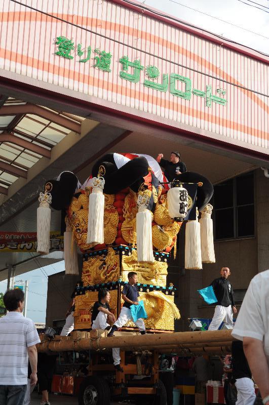 新居浜夏祭り 昭和通り 西町太鼓台